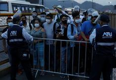 El Agustino: reportan aglomeraciones en paraderos en primer día de levantamiento de la cuarentena   FOTOS