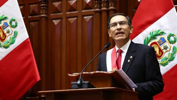 El 28 de julio, el presidente de la República Martín Vizcarra propuso una reforma constitucional para adelantar elecciones generales al 2020 (Foto: Congreso de la República)