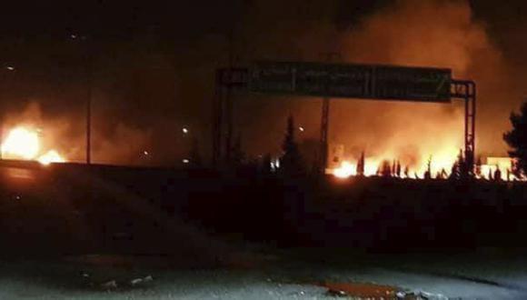 Israel bombardea Siria y mata a 15 combatientes, entre ellos 8 iraníes. (AP).