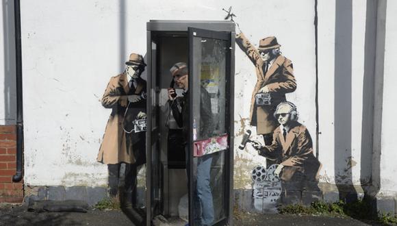 Banksy admitió autoría de un famoso grafiti contra el espionaje