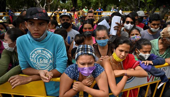 """""""No vamos a ocuparnos aquí de las causas de ese éxodo. La crisis que vive Venezuela desde hace años tiene varias dimensiones y necesita de mucho diálogo interno, apoyado por la comunidad internacional, para ser superada"""". (AFP / Luis ROBAYO)."""