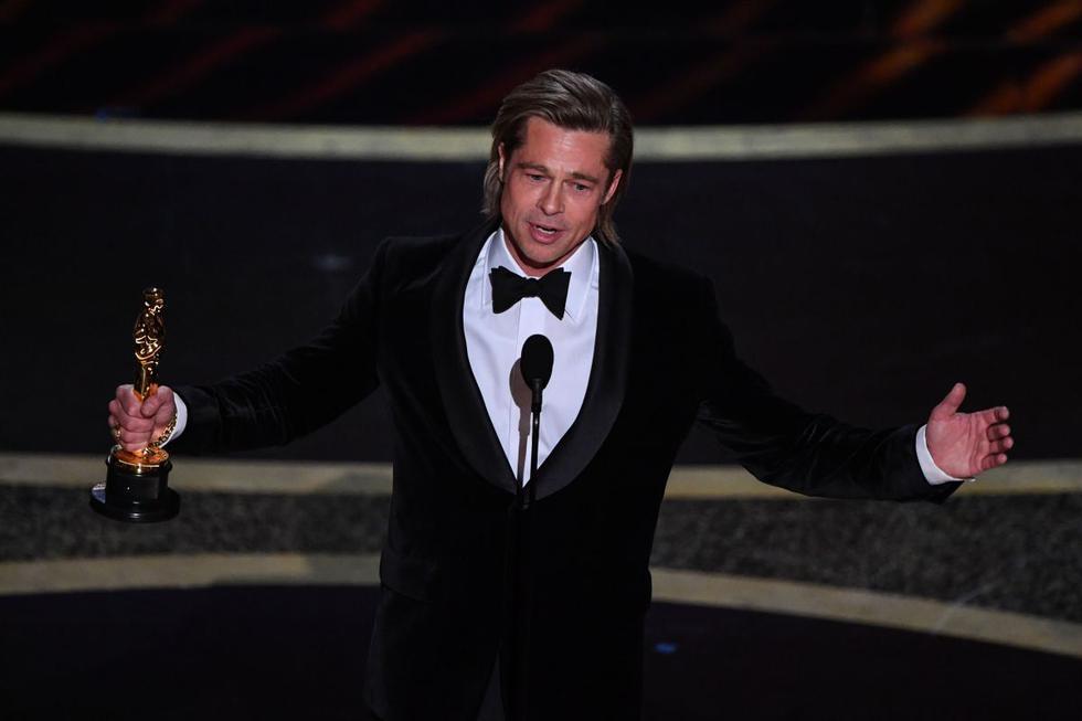 """Oscar 2020. Brad Pitt ha barrido con la temporada de premios con su papel como el doble de acción Cliff Booth en la cinta """"Once Upon a Time in Hollywood"""". (Foto: AFP)"""