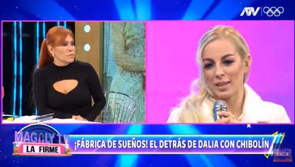 """Dalia Durán en el programa """"Magaly TV: La Firme"""". (Foto: Captura ATV)."""