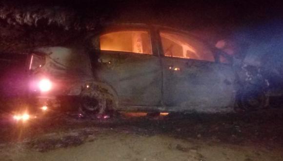 Chiclayo: vehículo se incendia tras choque y tres personas salvan de morir