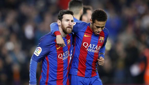 Neymar jugó con Lionel Messi en Barcelona desde 2013 a 2017. (Foto: Getty Images)