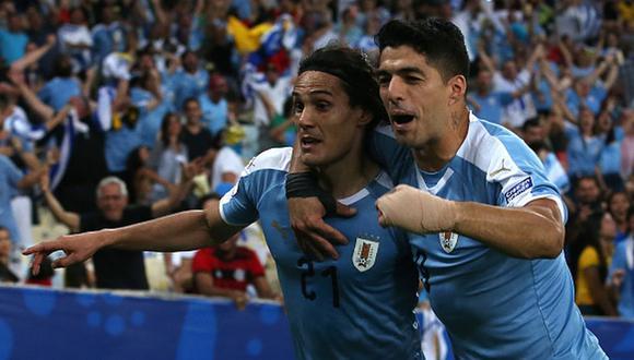 Suárez y Cavani son los dos máximos goleadores de la selección uruguaya. (Getty)