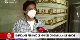 Coronavirus en Perú: fabricante de ataúdes cuadruplica ventas debido a pandemia