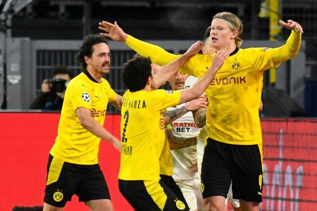 Erling  Haaland descomunal en la Champions League (Foto: AP)