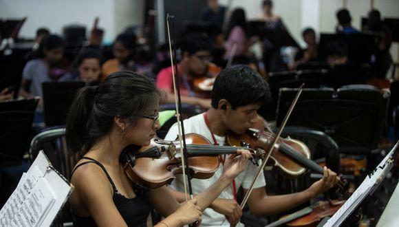 Los alumnos de Sinfonía por el Perú retomarán sus clases presenciales cuando se levante el estado de emergencia (Foto: César Campos/ GEC)