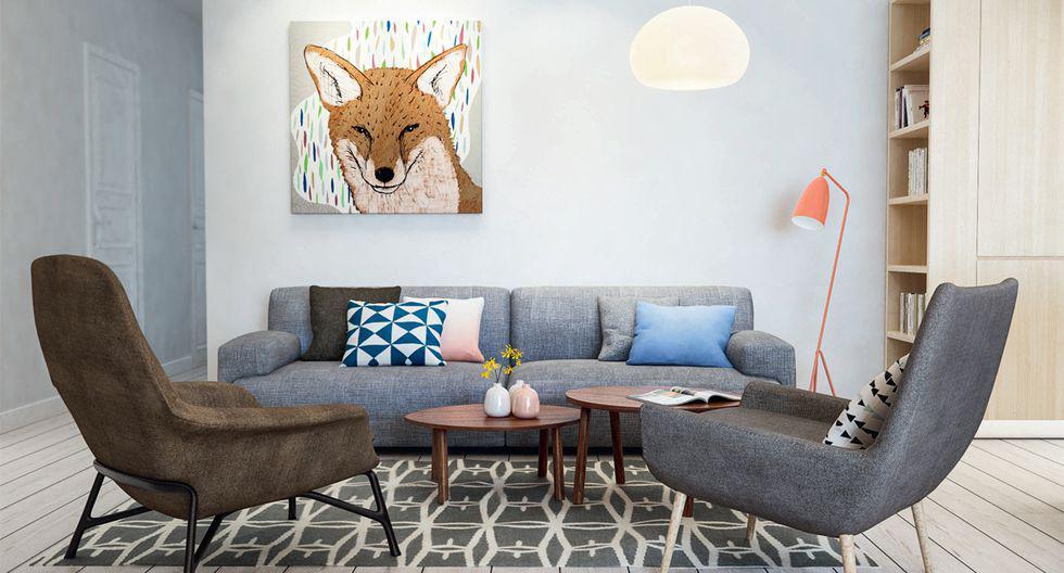 Destaca la pared colgando cuadros, afiches o fotografías. Es posible colocar solo una imagen o hacer una composición con elementos de distintos tamaños. (Foto: INT 2 ARCHITECTURE)