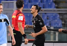 Lazio vs. Milan: ¡Por poco falla! Ibrahimovic tuvo la suerte de su lado al marcar el 2-0 de penal | VIDEO