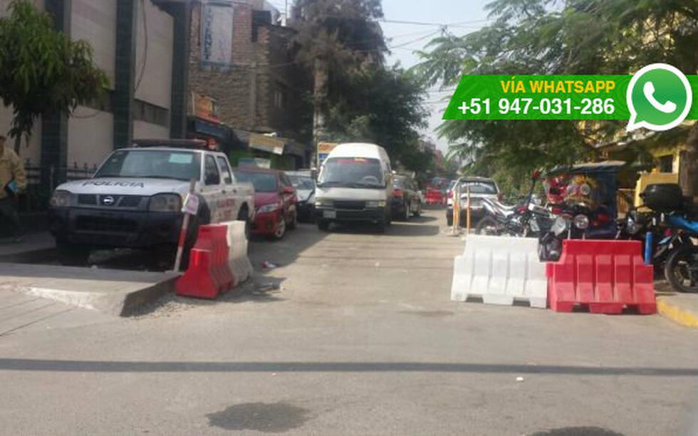 SJL: cierran calle para que autos sean estacionados - 2