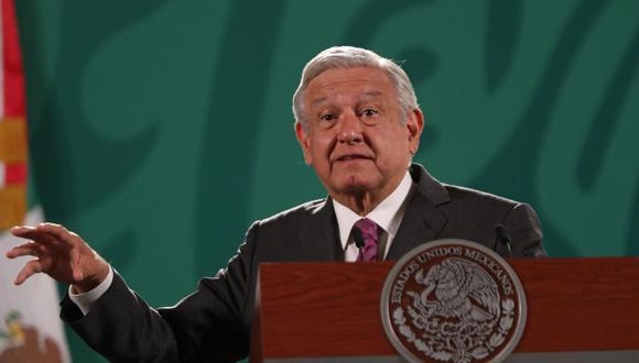 El presidente de México, Andrés Manuel López Obrador, habla durante una rueda de prensa matutina en el Palacio Nacional. (EFE/ Mario Guzmán).