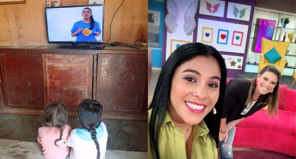 """Aprendo en casa"" llegó a través de la señal de TV Perú. (Foto: Facebook Minedu/@maricarmenmarins)"