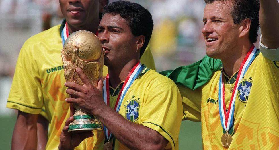 En el Mundial Estados Unidos 94, Romario fue la gran estrella del campeón Brasil. Junto a Bebeto integró una dupla de ataque para el recuerdo. (Foto: AFP).