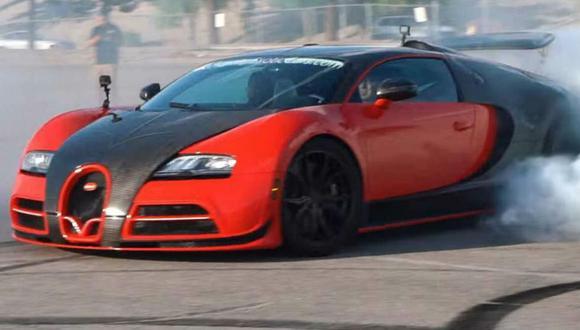 Luego de la modificación, el Bugatti Veyron ahora podrá realizar derrapes similares a los de un auto de drift. (Foto: YouTube).