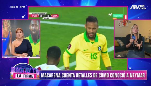 Neymar quiso encuentro con Macarena Gastaldo tras jugar contra Perú, pero no se concretó. (Foto: Captura Magaly TV: La Firme)