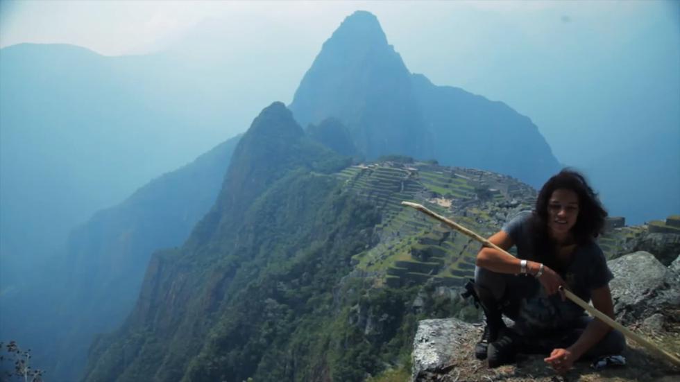 Machu Picchu logró robarle el corazón a la artista quien quedó fascinada al verlo. (Foto: Captura de YouTube)