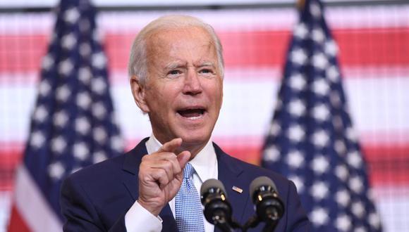 Joe Biden pronuncia un discurso de campaña en Pittsburgh. (Foto: SAUL LOEB / AFP).