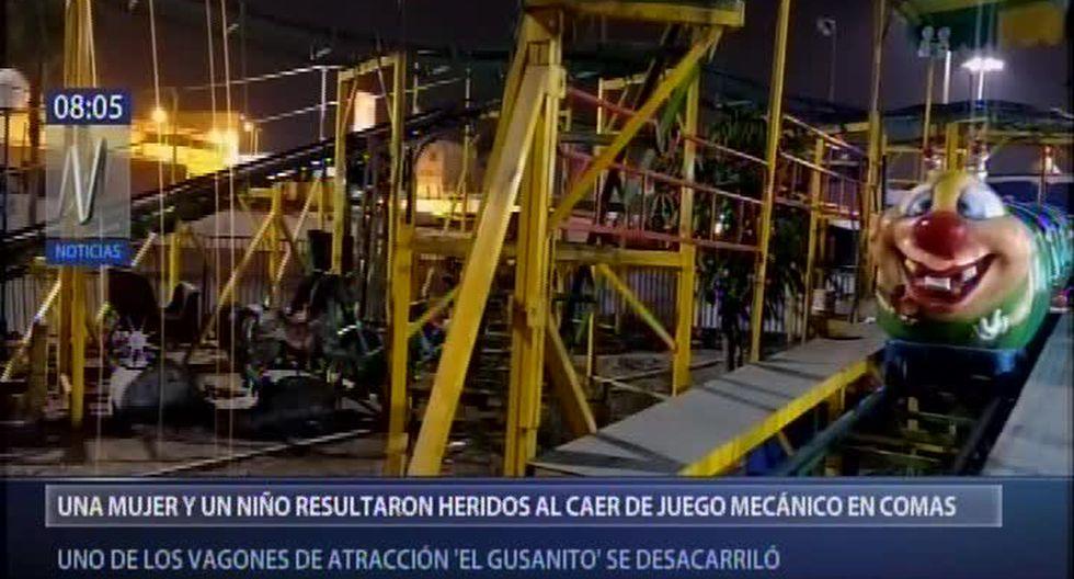 Los heridos, entre ellos un menor de edad, fueron trasladados de emergencia al Hospital Sergio Bernales, en Collique, y a la Clínica Jesús del Norte para su atención médica. (Foto captura: Canal N)