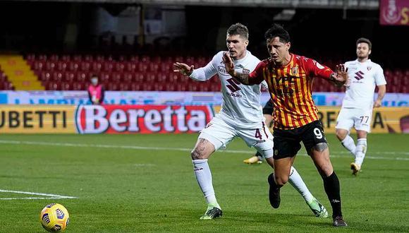 "Director Deportivo de Benevento sobre Gianluca Lapadula: ""Se sacrifica mucho por el equipo"" (Foto: Benevento)"