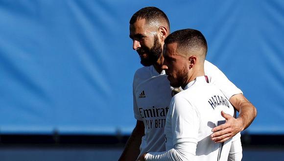 Eden Hazard y Karim Benzema podría reaparecer con el Real Madrid frente al Atlético de Madrid