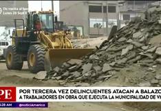 VMT: atacan por tercera vez a trabajadores de obra de construcción