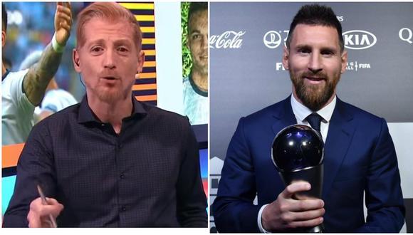 Martín Liberman cuestionó el premio The Best ganado por Lionel Messi al Mejor Jugador FIFA. (Foto: AFP)