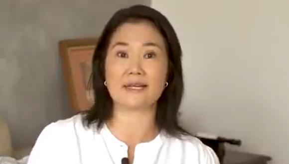 Keiko Fujimori, candidata presidencial por Fuerza Popular, rechazó pedido del congresista de su bancada. (Captura)