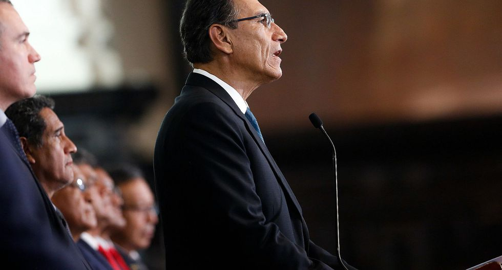 """El presidente Martín Vizcarra afirmó que la cuestión de confianza se sustentará en la aprobación, """"sin vulnerar la esencia"""", de cinco proyectos de ley (Foto: Presidencia)"""