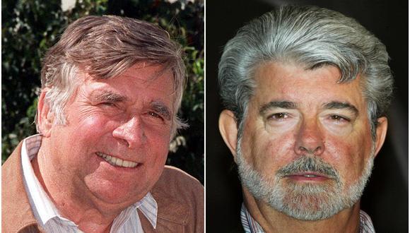 """Gene Roddenberry y George Lucas, creadores de """"Star Trek"""" y """"Star Wars"""" respectivamente. (Foto: AP)"""