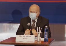 """Hernando de Soto: """"De llegar a la presidencia, Miguel Vega Alvear vendría a ser el primer ministro"""""""