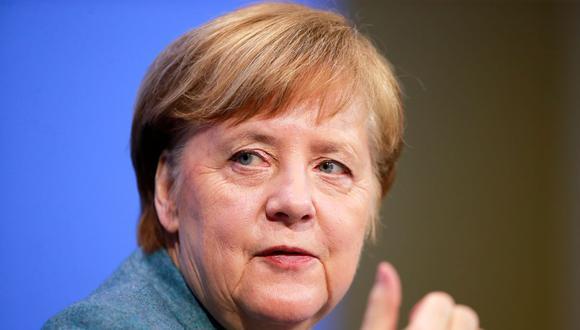 """Angela Merkel afirma que """"todas las vacunas"""" son """"bienvenidas"""" tras datos sobre la gran eficacia de la rusa Sputnik V. (HANNIBAL HANSCHKE / POOL / AFP)."""