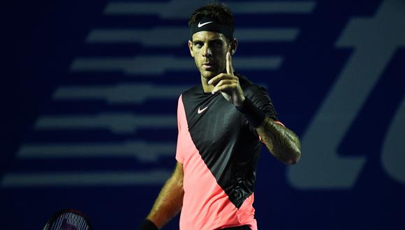 El argentino Juan Martín del Potro se medirá ante el ruso Kevin Anderson este sábado (10:00 p.m. EN VIVO por ESPN PLAY) en la definición del ATP mexicano. (Foto: AFP)