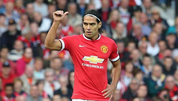 Falcao expresó su alegría tras primer gol en Manchester United