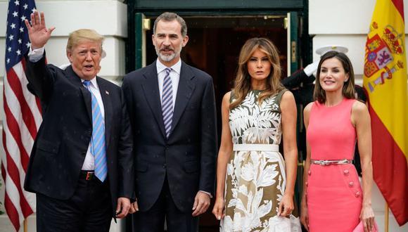 Trump recibe a Felipe VI en la Casa Blanca y confiesa que le gustaría viajar a España. (Foto: AFP)