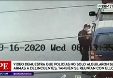 Video muestra a policías alquilando armas y reuniéndose con delincuentes