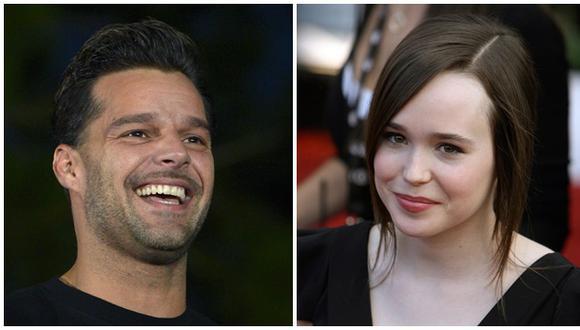 Ricky Martin felicitó a Ellen Page por confesar homosexualidad