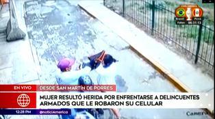 SMP: Mujer se enfrenta a delincuentes para evitar robo