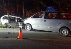 Madre de Dios: tres miembros de una familia fallecen tras choque de auto y miniván