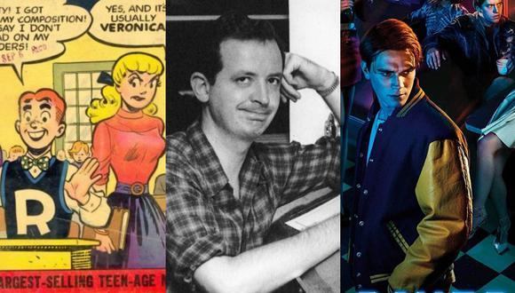 """Bob Montana comenzó a dibujar a Archie y sus amigos en 1941, y lo siguió haciendo hasta su muerte, en 1975. En base a su obra se creó la serie de TV """"Riverdale"""". (Fotos: Archie Comics, Northern Essex Community College, The CW)"""