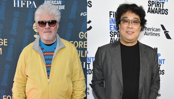 """Pedro Almodóvar y Bong Joon-ho lucharán por un Globo de Oro a Mejor película extranjera por """"Dolor y gloria"""" y """"Parasite"""", respectivamente. (Foto: Agencia)"""