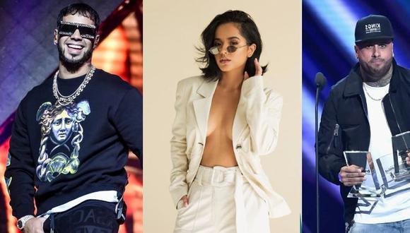 Karol G, Anuel AA, Becky G, Nicky Jam y Natti Natasha son los reggaetoneros más seguidos y les contamos sobre su vida amorosa. (Foto: AFP)