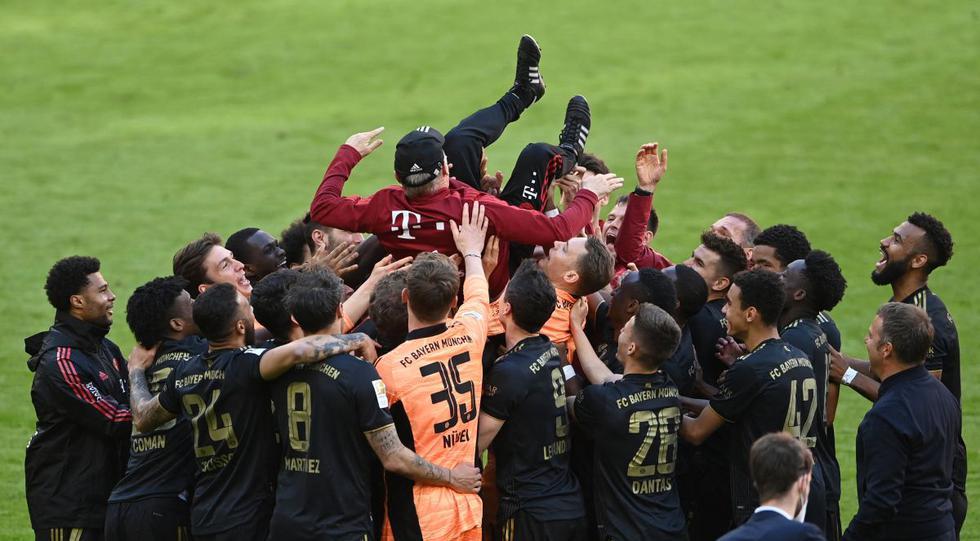 Bayern Munich celebró su noveno título consecutivo de Bundesliga. (Foto: AFP)