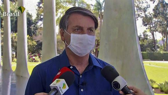 El presidente de Brasil, Jair Bolsonaro, anunció personalmente que dio positivo a coronavirus. (Foto: TV BRASIL / AFP)