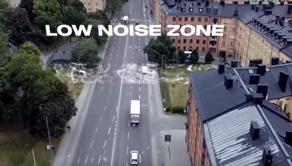 El Scania Zone puede identificar en qué parte de la ciudad el camión debe utilizar su motor eléctrico, para así evitar multas. (Difusión)