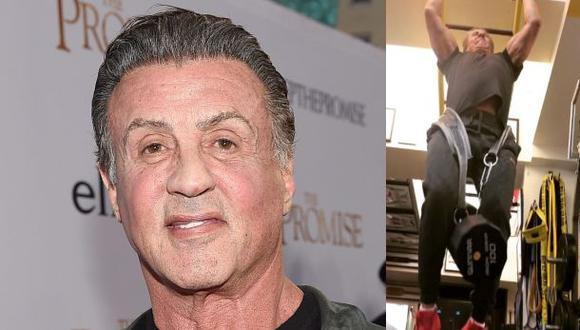 Sylvester Stallone intenta mantenerse apto físicamente pese a su avanzada edad. (Fotos: Agencias/Instagram)