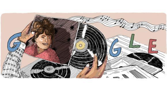Google dedica un doodle a Eloísa Angulo en el Día de la Canción Criolla. (Foto: Google)