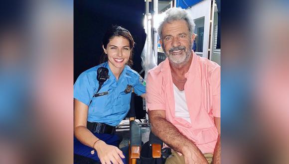 Stephanie Cayo y Mel Gibson. (Foto: Instagram)
