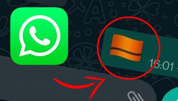 Conoce el significado del nuevo emoji de la bandera naranja con franja negra en WhatsApp. (Foto: WABeta Info)